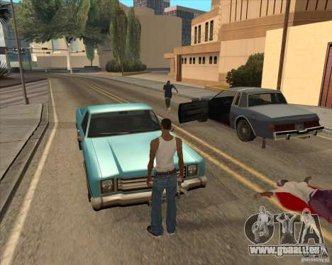 Pilotes de sortir de la voiture pour GTA San Andreas troisième écran