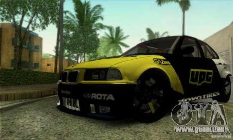 BMW E36 Urban Perfomance Garage pour GTA San Andreas vue intérieure