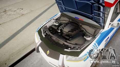 Carbon Motors E7 Concept Interceptor NYPD [ELS] pour GTA 4 vue de dessus