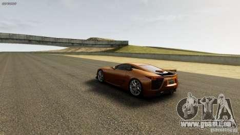 Lexus LF-A für GTA 4 Rückansicht
