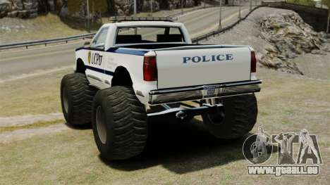 COP Monster Truck ELS pour GTA 4 Vue arrière de la gauche