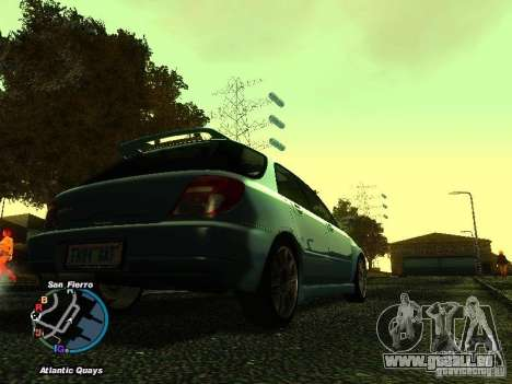 Subaru Impreza Wagon 2004 - 2002 pour GTA San Andreas laissé vue