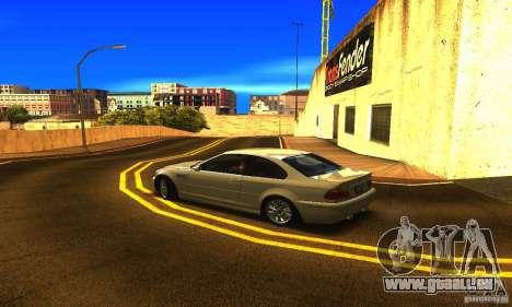 BMW M3 Tuneable pour GTA San Andreas laissé vue