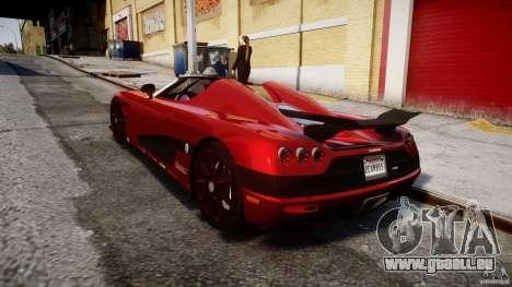 Koenigsegg CCXR Edition pour GTA 4 Vue arrière de la gauche