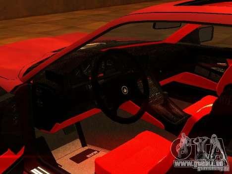 BMW 850i für GTA San Andreas Rückansicht