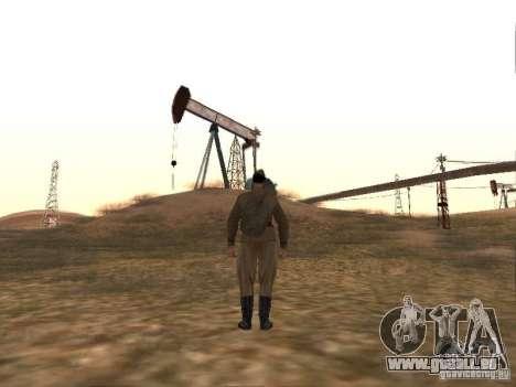 Peau de soldat soviétique de guerre mondiale II pour GTA San Andreas quatrième écran