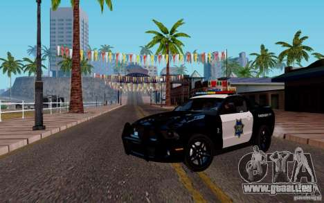 Ford Shelby Mustang GT500 Civilians Cop Cars für GTA San Andreas linke Ansicht