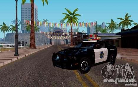 Ford Shelby Mustang GT500 Civilians Cop Cars pour GTA San Andreas laissé vue