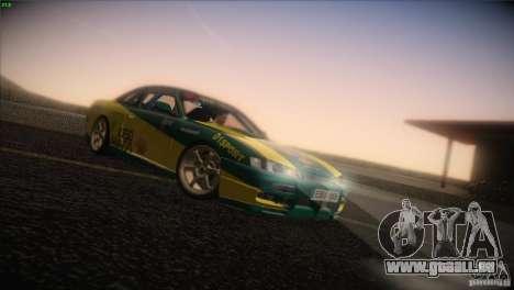 Nissan S14 pour GTA San Andreas sur la vue arrière gauche
