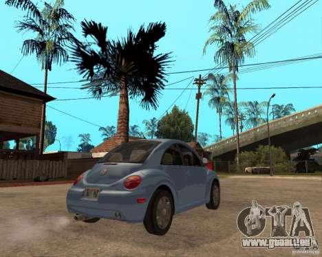 Volkswagen Beetle für GTA San Andreas zurück linke Ansicht
