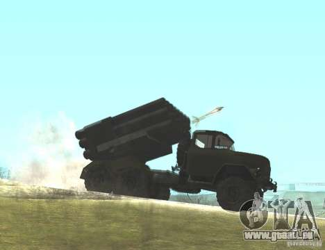 ZIL-131 à Grad pour GTA San Andreas vue de droite
