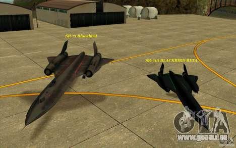 SR-71A BLACKBIRD BETA für GTA San Andreas obere Ansicht