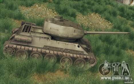 T-34-85 depuis le jeu COD World at War pour GTA San Andreas laissé vue