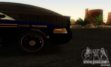 Ford Crown Victoria Orgeon Police für GTA San Andreas rechten Ansicht