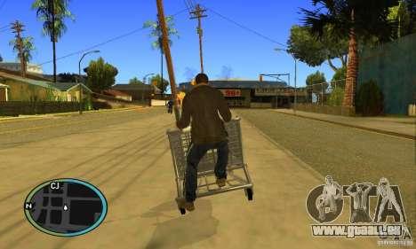 Shopping Cart Faggio V2 pour GTA San Andreas vue arrière