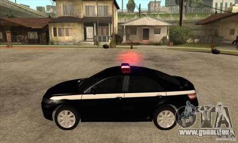 Toyota Camry 2010 SE Police RUS für GTA San Andreas linke Ansicht