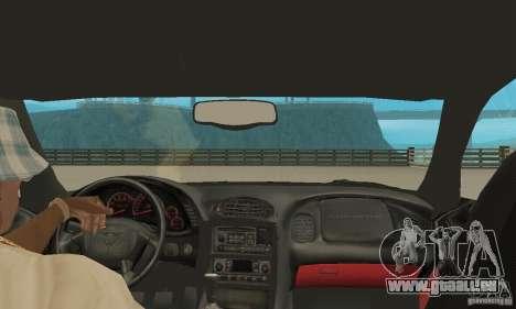Chevrolet Corvette 5 pour GTA San Andreas vue intérieure