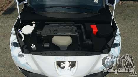 Peugeot 308 GTi 2011 Police v1.1 pour GTA 4 vue de dessus