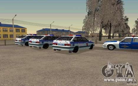 Vaz 2114 PSB Police pour GTA San Andreas laissé vue