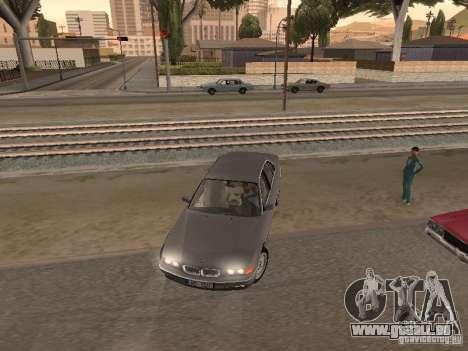 BMW 740 pour GTA San Andreas vue intérieure