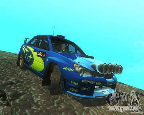 Subaru Impreza WRX STI DIRT 2 pour GTA San Andreas vue arrière
