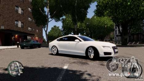 Audi A7 Sportback pour GTA 4 est une vue de l'intérieur