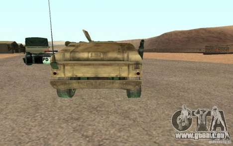Hummer Spec Ops The Line pour GTA San Andreas sur la vue arrière gauche