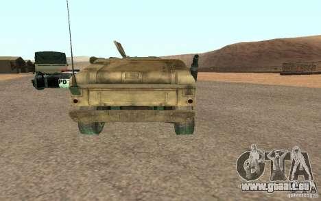Hummer Spec Ops The Line für GTA San Andreas zurück linke Ansicht