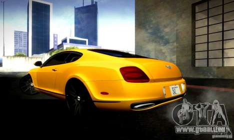 Bentley Continental Supersports für GTA San Andreas Rückansicht