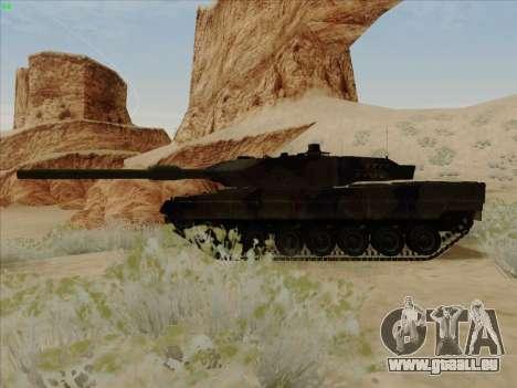 Leopard 2A6 pour GTA San Andreas laissé vue
