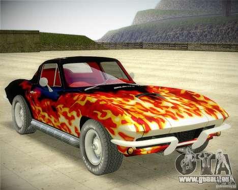Chevrolet Corvette Stingray pour GTA San Andreas vue arrière