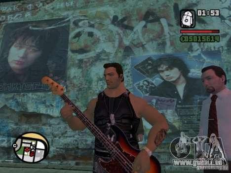 Chansons de films à la guitare pour GTA San Andreas quatrième écran