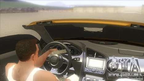 Audi R8 5.2 FSI Spider pour GTA San Andreas laissé vue