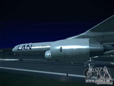 Airbus A340-600 LAN Airlines pour GTA San Andreas sur la vue arrière gauche