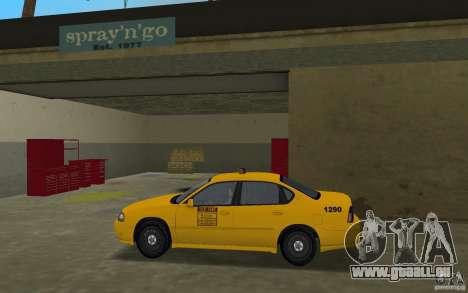 Chevrolet Impala Taxi pour une vue GTA Vice City de la gauche