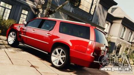 Cadillac Escalade ESV Platinum 2012 pour GTA 4 est une gauche
