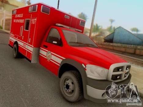 Dodge Ram 1500 LAFD Paramedic für GTA San Andreas Rückansicht