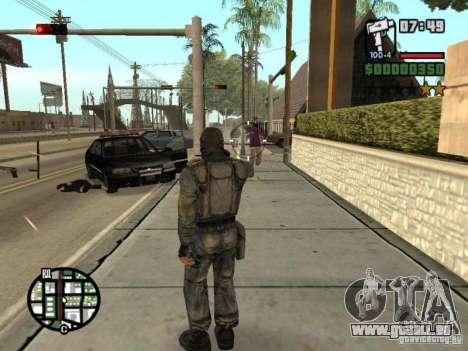Mercenaire de STALKER en masque pour GTA San Andreas sixième écran