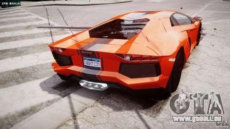 Lamborghini Aventador LP700-4 2011 [EPM] pour GTA 4 est une vue de dessous