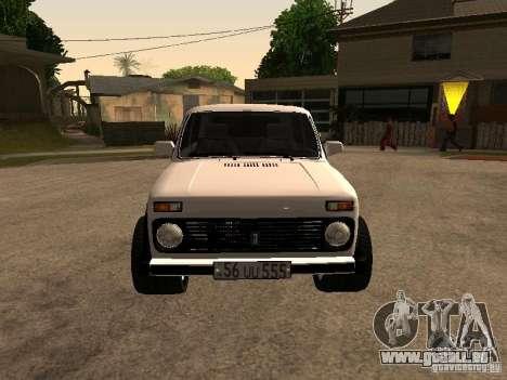 Armenian NIVA DORJAR 4 x 4 pour GTA San Andreas laissé vue