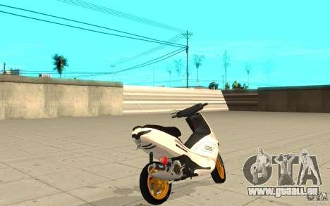 Gilera Runner 50SP Skin 3 pour GTA San Andreas sur la vue arrière gauche