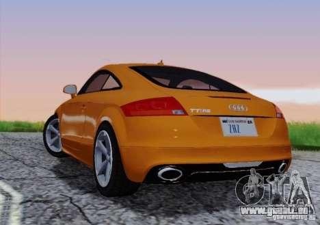 Audi TT-RS Coupe pour GTA San Andreas vue de côté