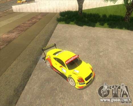 Audi TTR DTM racing car pour GTA San Andreas sur la vue arrière gauche