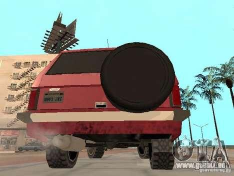 Le nouveau Huntley pour GTA San Andreas vue de droite
