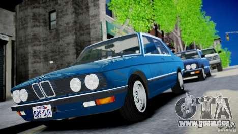 BMW 535 E28 pour GTA 4 Vue arrière de la gauche