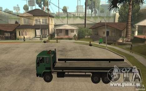 DFT30 Dumper Truck für GTA San Andreas linke Ansicht