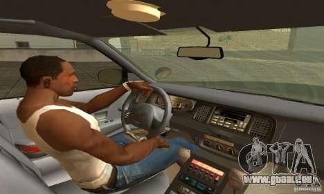 Ford Crown Victoria New Mexico Police pour GTA San Andreas sur la vue arrière gauche