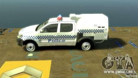 Toyota Hilux Australian Police ELS pour GTA 4 est une gauche
