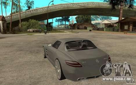Mercedes-Benz SLS pour GTA San Andreas sur la vue arrière gauche