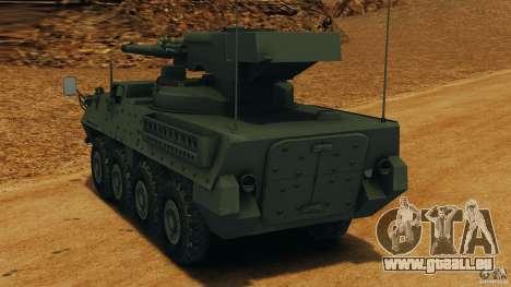Stryker M1128 Mobile Gun System v1.0 pour GTA 4 Vue arrière de la gauche